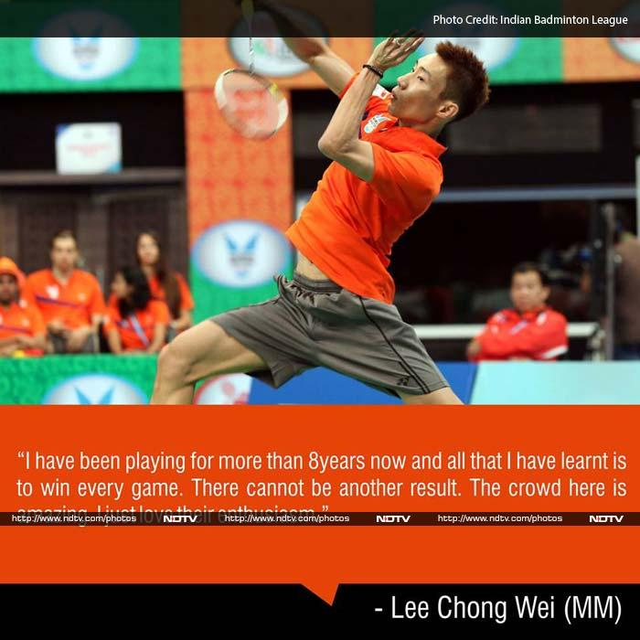 """Lee after the match said: """"i have been playing for more than 8 years now and all that I have learnt is to win every match. There cannot be another result.""""<br><br> In the deciding rubber, World No.9 brother-sister pairing of Kido and Pia Bernadet then came out to take the match for the Lucknow-based team 21-19, 21-15 against Ivanov and N. Siki Reddy in the final mixed doubles tie."""