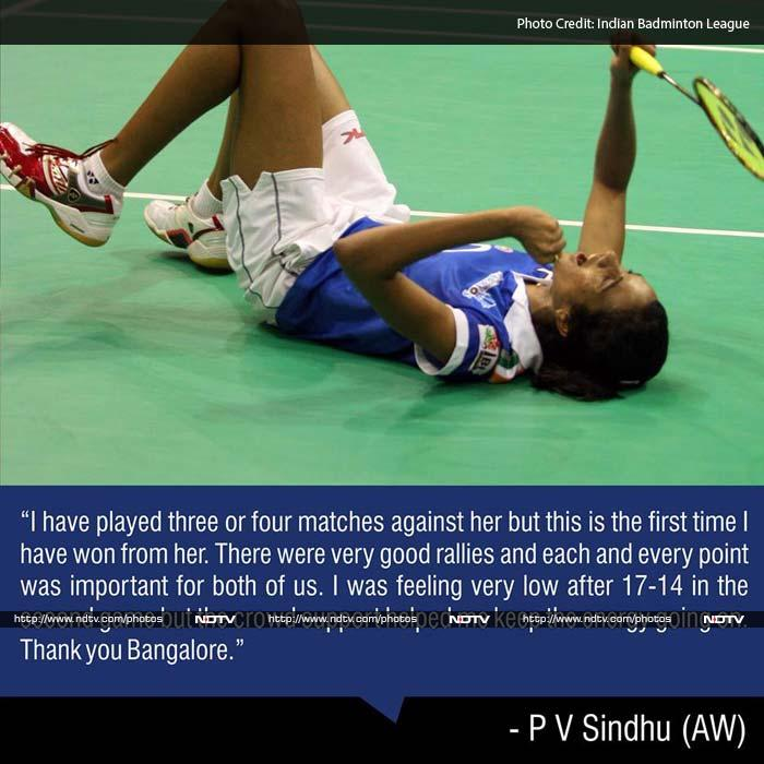 Both the World Championships medallists fought brilliantly in the third game but an extremely destructive Sindhu kept attacking and took the game away from the Dane, winning 11-8 in the third game. The scoreline between the two sides was tied at 1-1.