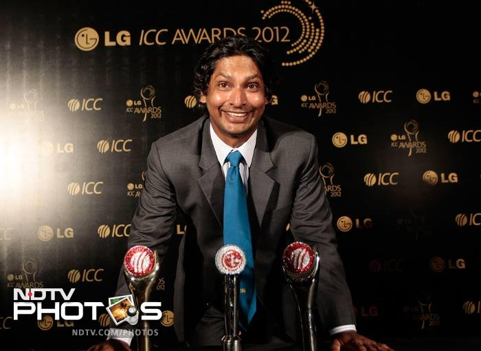 """Sri Lanka's Kumar Sangakkara was the big winner of the night. He received three awards including being named ICC Cricketer of the Year.<br><br> """"I continue to learn from youngsters in the team,"""" said a humble Sangakkara after getting his awards."""