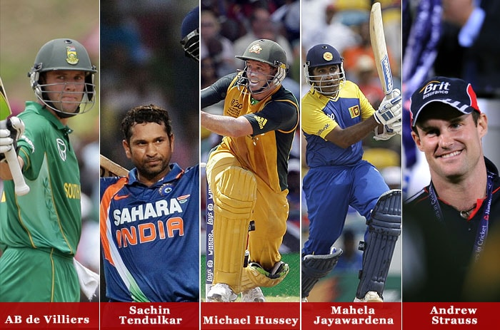 LG People's Choice Award saw the nomination of five players: Michael Hussey from Australia, Mahela Jayawardena from Sri Lanka, Sachin Tendulkar from India, Andrew Strauss from England and AB de Villiers from South Africa.