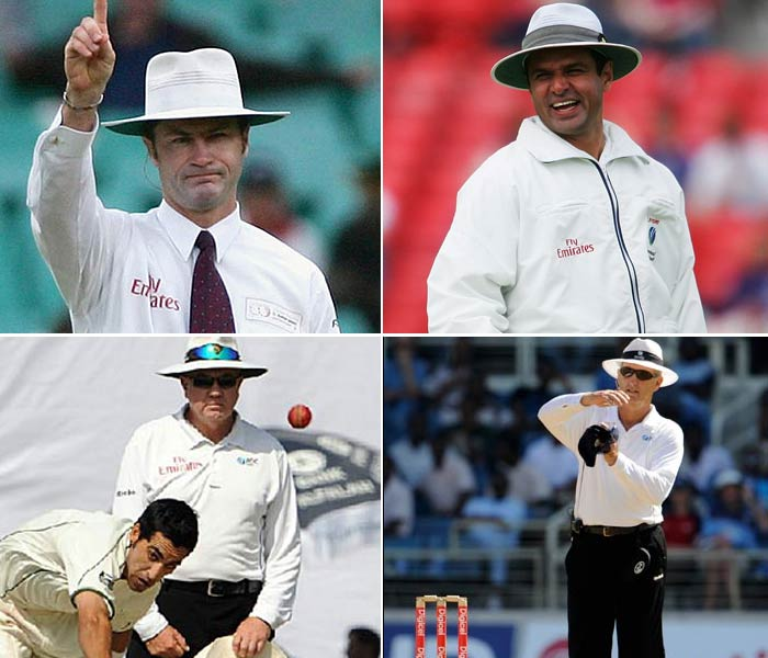 For the Umpire of the Year the following names were nominated:<br><br>Simon Taufel (Top Left) Aleem Dar (Top Right), Steve Davis(Bottom Left) and Tony Hill (Bottom Right).