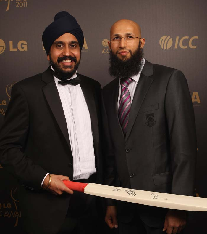 Hashim Amla at the ICC Annual awards at The Grosvenor House Hotel in London. (Photo by Tom Shaw/Getty Images)