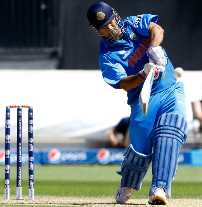 But MS Dhoni had other ideas, he kept on rotating the strike from the start of his innings and never let the run rate go down. He played audacious strokes to put off the Australian bowlers. In all, Dhoni hit six fours and four sixes in his 77-ball 91-run knock.