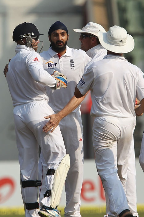 Monty Panesar finished with 11-wicket match haul. (Pic Courtesy: BCCI)