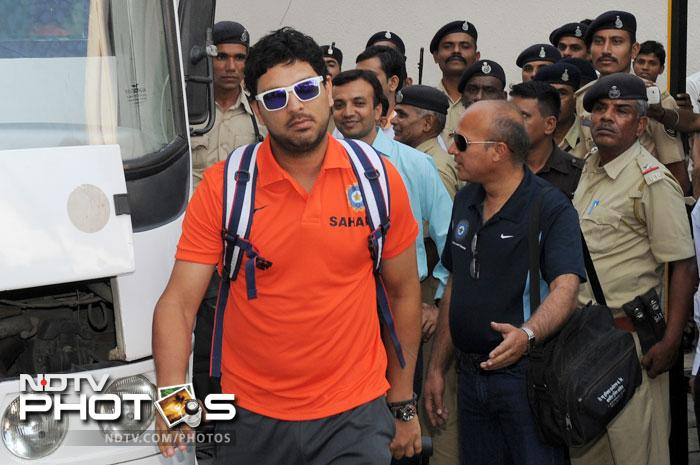 Yuvraj Singh will be making his Test return after a year. He last played a Test in November 2011 against the West Indies. (AFP Photo)