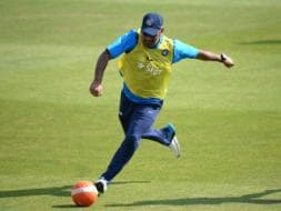 Third Test: MS Dhoni & Co. 'Kick About' in Practice Session