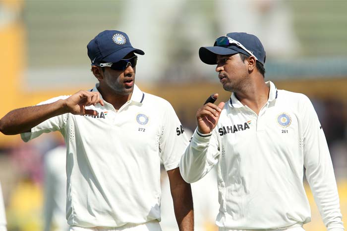 <b>Dose of Spin:</b> And India's decision to declare paid off as England were 41/3 at stumps on Day 2. Indian spinners R Ashwin and Pragyan Ojha troubled the English batsmen. (Photo Courtesy: BCCI)