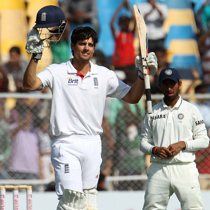 <b>Captain Cook leads from the front:</b> Alastair Cook made sure he did not make the same mistake twice and led England' fightback and scored 176 runs. He was supported well by Matt Prior. They England pair took the match to the fifth day. (Photo Courtesy: BCCI)
