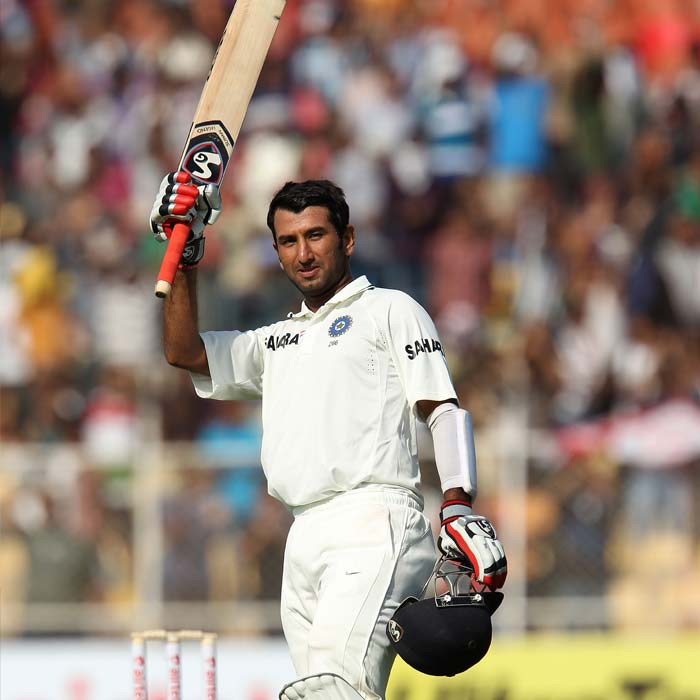 <b>Pujara's divine knock:</b> There never was any doubt about the talent and ability of Cheteshwar Pujara, but his chance came only after the stalwarts like Rahul Dravid and VVS Laxman called it a day. Playing only his sixth Test, Pujara brought up his second Test century, which he later converted into an unbeaten double hundred. His knock took India to a mammoth score of 521/8. (Photo Courtesy: BCCI)