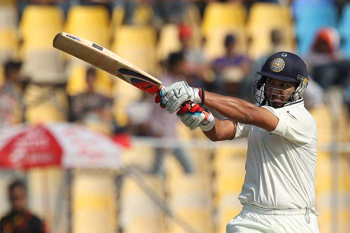 <b>Yuvraj Singh returns to Tests:</b> It was after a year that Yuvraj Singh played a Test match. And he made sure his return to Test cricket after his successful battle against cancer was worth the wait. He scored solid 74 runs and added 130 runs with Pujara for the fifth wicket. (Photo Courtesy: BCCI)