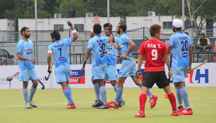 India widened their advantage as Talwinder Singh scored in the 31st minute to make it 3-0.