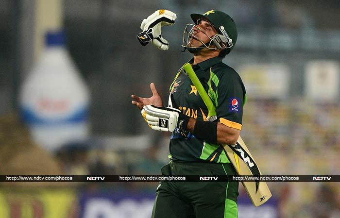 Pakistan skipper suffered another heartbreak with the bat as he was run out twice in as many games. He fell for 1 run.