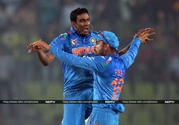 Ravichandran Ashwin kept India alive with the wickets of Hafeez at a crucial juncture and that of Saeed Ajmal in the final over, leaving Afridi to score nine runs from the final three balls.