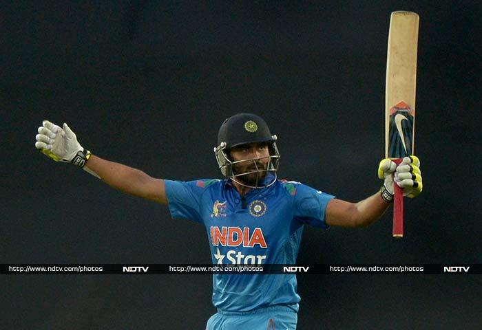 Ravindra Jadeja helped India shift gears towards the end as he too scored a fifty. India reached 245/8 in 50 overs.