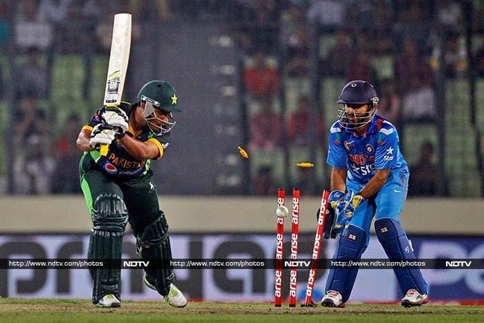 After a good opening stand, Ravichandran Ashwin gave India the first breakthrough by cleaning up Sharjeel Khan.