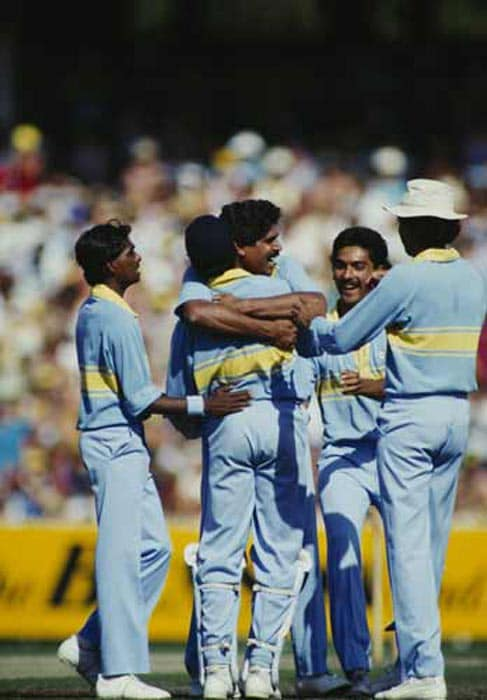 <b>March 22, 1985 in Sharjah:</b> India won by 38 runs<br><br> Pakistani paceman Imran Khan had virtually put his team in a winning position when he grabbed 6-14 off 10 overs to bowl India out for a paltry 125 in a Four-Nations Cup match. But India, led by fast bowler Kapil Dev (3-17), dismissed Pakistan for 87 to clinch a low-scoring thriller.