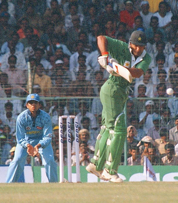 <b>May 21, 1997 in Chennai:</b> Pakistan won by 35 runs<br><br> Pakistani opener Saeed Anwar flayed the Indian attack with the then world record of 194 off just 146 balls in an Independence Cup match. India were bowled out for 292 chasing a 328-run target. Anwar's record stood for more than a decade before Sachin Tendulkar became the world's first batsman to hammer a double-century in ODIs in 2010, against South Africa in Gwalior.