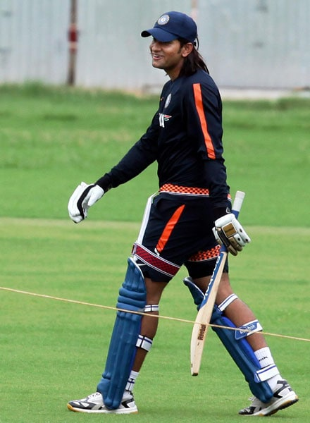 Saurabh Tiwary during a practice session at MAC Stadium in Chennai. (PTI Photo)