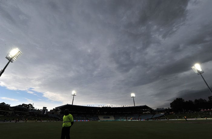 The match between South Africa and India is stopped due to rain on the fourth day of the first Test at SuperSport Park in Centurion. (AFP Photo)