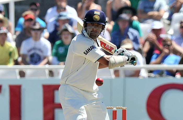 Indian cricketer Gautam Gambhir plays a shot during the third day of the third and final Test against India at Newlands Stadium in Cape Town. (AFP Photo)