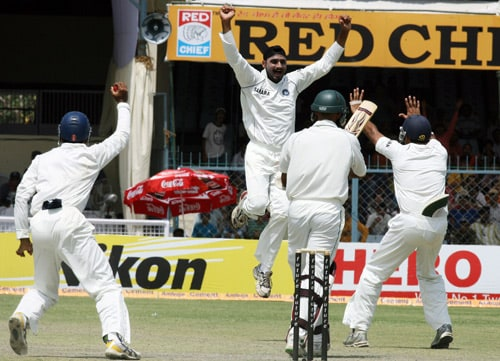 With bowlers like Dale Steyn, Morne Morkel and Wayne Parnell in the team, South African bowling has a very potent look. On the other hand, India have Zaheer Khan along side Harbhajan Singh, Amit Mishra and Ishant Sharma to test the Proteas.<br><br>While the younger lot of Mishras and Morkels has proved its talent, it is Indian off-spinner Harbhajan who enjoys some successful memories against the South Africans. In the last series of 2007-08, Harbhajan became the third highest wicket-taker in a series between the two teams. He had picked 19 wickets in three Tests at an average of 26.10. He will also be excited by the fact that India play the second Test against Graeme Smith and his team on his favourite hunting ground - Kolkata. He has an impressive bowling figure of 7-87 that came in 2004-05.<br><br>While Bhajji leads the current crop, Indian spin legend Anil Kumble remains the highest wicket-taker with 84 wickets in 21 Tests followed by pacer Javagal Srinath with 64 wickets in 13 Tests and Allan Donald with 57 wickets in 11 Tests. (Pic: AFP)