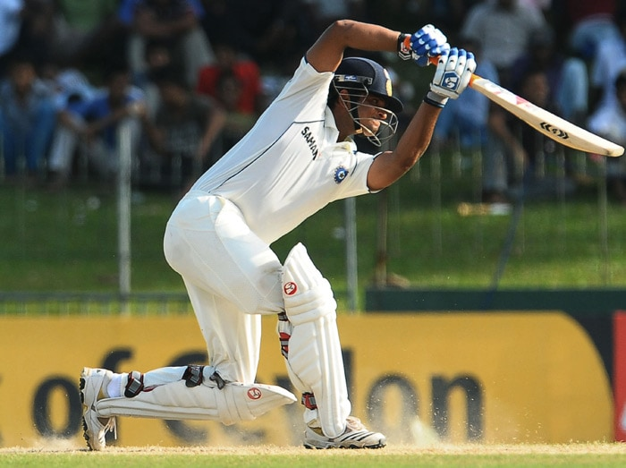 Suresh Raina plays a stroke during the third day of the second Test match between Sri Lanka and India at The Sinhalese Sports Club Ground in Colombo. (AFP Photo)