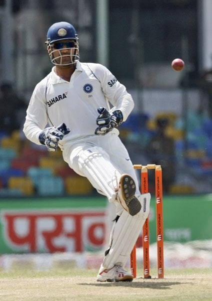 Mahendra Singh Dhoni misfields a ball during the second day of the second Test against Sri Lanka in Colombo. (AP Photo)