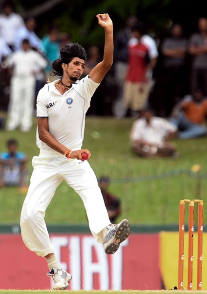 Ishant Sharma delivers a ball during the fifth and final day of the second Test match between Sri Lanka and India in Colombo. (AFP Photo)