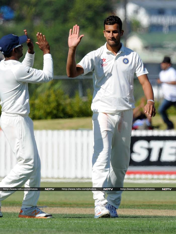 Ishwar Pandey made a strong claim for a Test berth against New Zealand. After the hosts won the toss and opted to bat, he led the way with his three strikes.