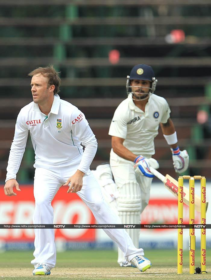 Such was the desperation that even AB de Villiers was brought in to bowl, but to no avail.
