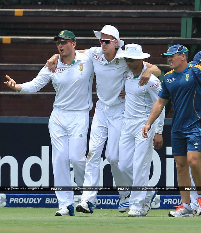Not having Morne Morkel - carried off the field after twisting his ankle while fielding - also hampered South Africa.
