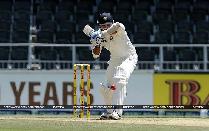 The other end was first handled by Murali Vijay who lost partner Shikhar Dhawan early on 15.