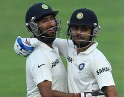 Photo : 1st Test, Day 3: Pujara's ton puts India in command vs SA