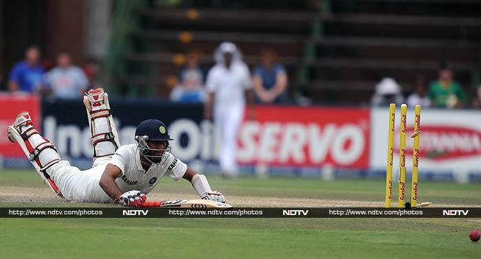 Run-out in the first innings on 25, Pujara ran and dove with a purpose in the second innings.