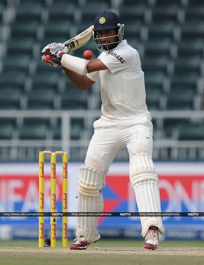 Pujara had already cemented himself at the other end by then though. <br><br>Luck too favoured him as he was dropped once by Imran Tahir off his own bowling.