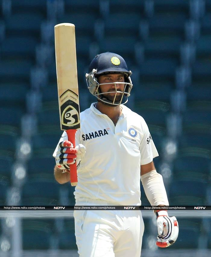 The day began with Cheteshwar Pujara and Virat Kohli continuing their fine showing. An overnight lead of 320 was daunting but Pujara in particular added to host's misery by reaching his fourth score of over 150.