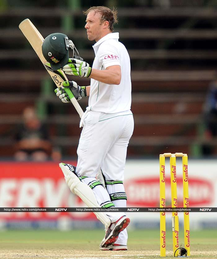 De Villiers too completed his century but fell at a crucial stage on 103.
