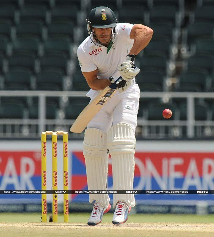 Du Plessis completed his fifty from 142 balls and was instrumental in seizing the initiative for his team.