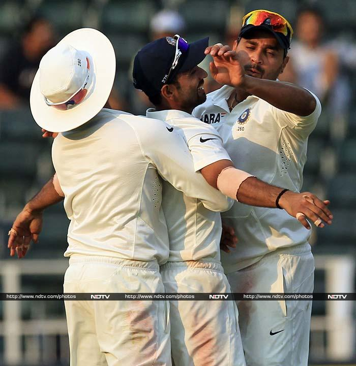 The turning point was du Plessis' wicket. India ran the centurion out on 134 with South Africa on 442.