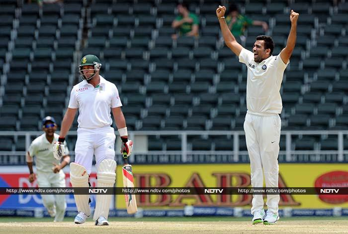 Kallis though eventually became Zaheer Khan's 300th Test victim, leaving South Africa on 197/4.