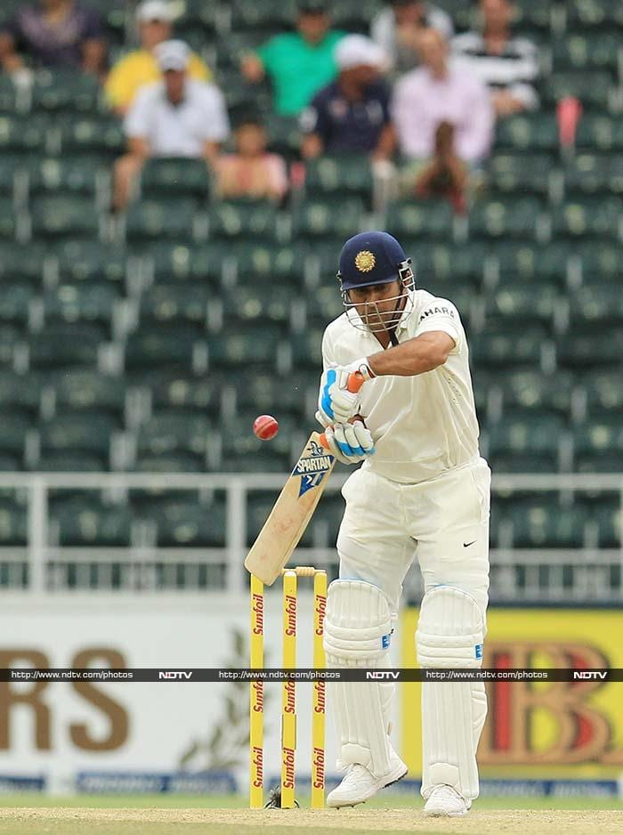 Earlier in the day, Indian batsmen too found going tough. Resuming on 255/5, skipper MS Dhoni fell on 19 to Morne Morkel.
