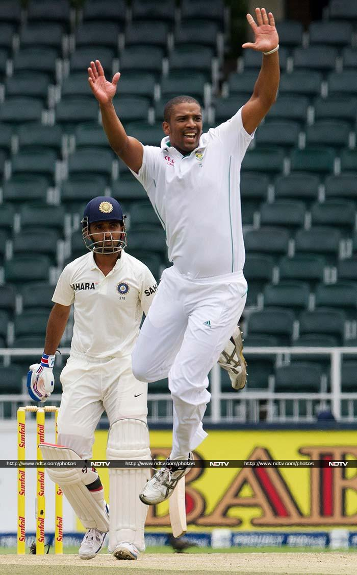 Vernon Philander removed Rahane on 47 and his three strikes in the opening session on Day 2 helped South Africa bowl India out on 280.