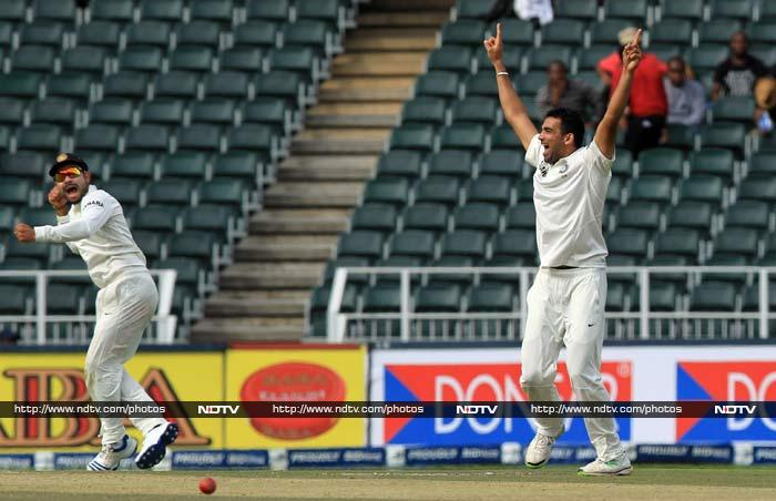 Zaheer Khan then - once again - trapped Smith LBW. This was the 14th occasion in international cricket that the Indian pacer had dismissed Smith.<br><br>Mohammad Shami contributed with two wickets.