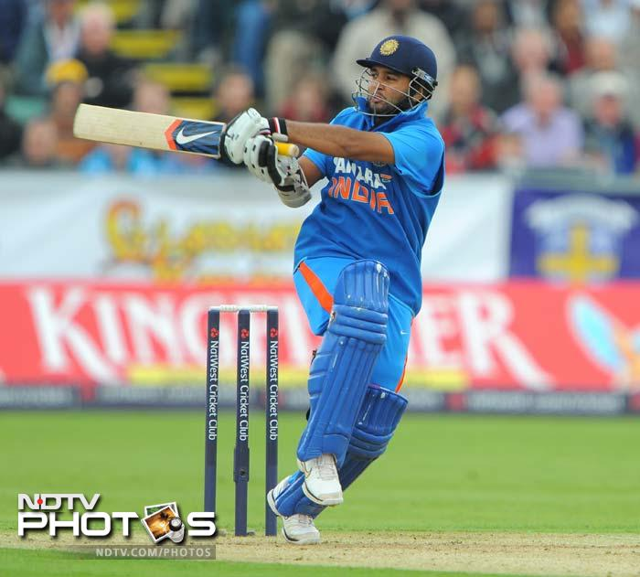 Parthiv top-scored with 95 and was unlucky to fall five short of his maiden international hundred. (AFP Photo)
