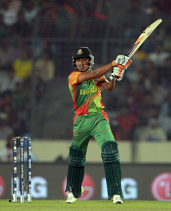 Anamul Haque led Bangladesh's charge against India with 44 from 43 deliveries.