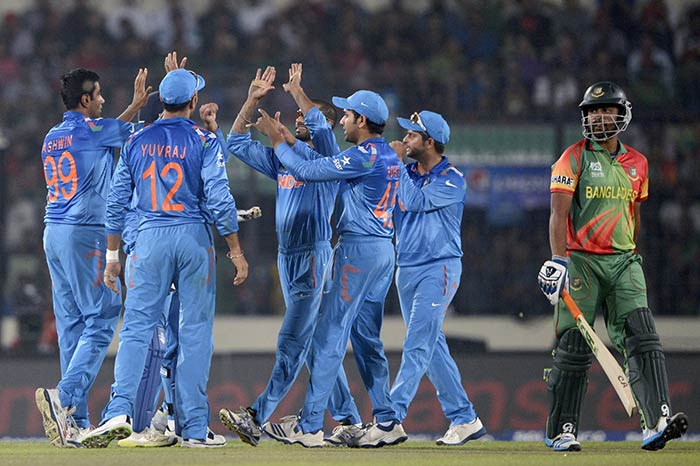 Bhuvneshwar Kumar got rid of Shakib-al-Hasan early to put the pressure on Bangladesh.