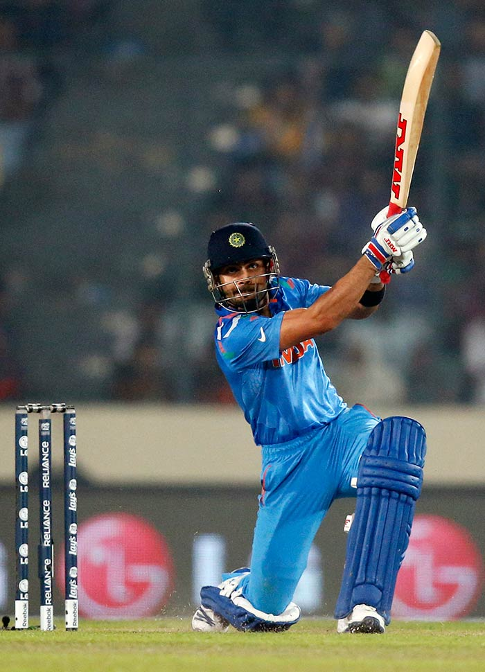 Virat Kohli's good form with the bat continued as he too scored his fifty.