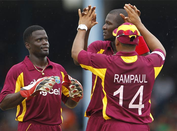 Sammy though remained unperturbed as he removed Virat Kohli and followed it up with two more wickets to dent India's top-order.