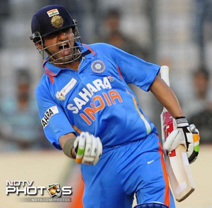 Gambhir helped himself to 100 runs off 118 balls. His however was still not the best innings.