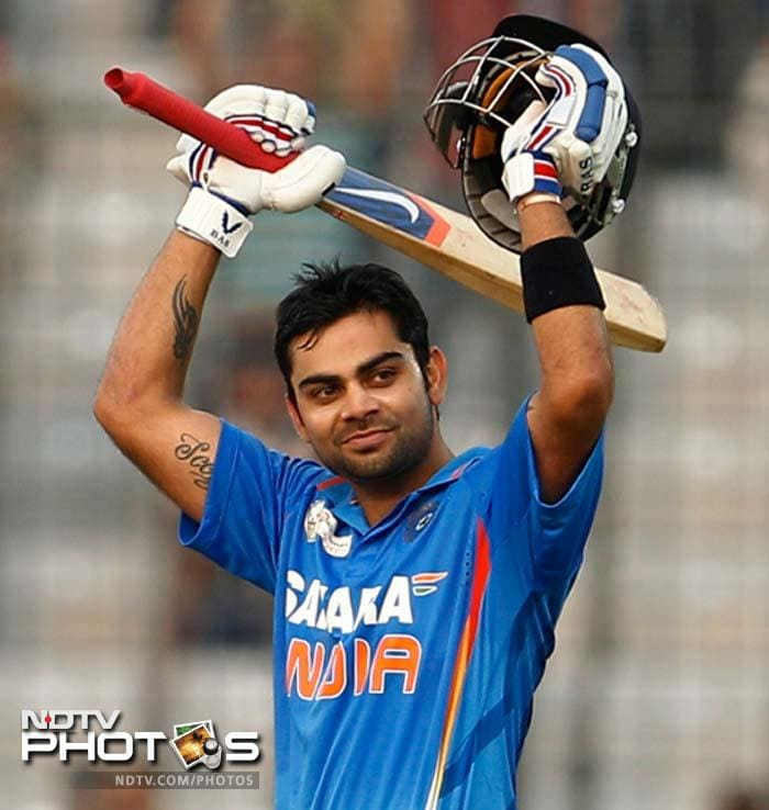 Virat Kohli, who had replaced Tendulkar, in the middle smashed 108 to build a solid 205-run partnership with Gambhir.